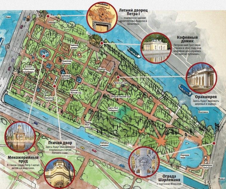 Полезные карты-схемы парков Петербурга и его окрестностей.