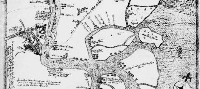 Карта XVI века с территорией будущего Петербурга